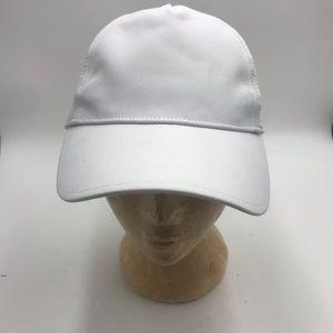 Women's white LULU baseball hat